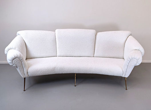 Italian Sofa Attributed To Giacomo Balla, 1950s