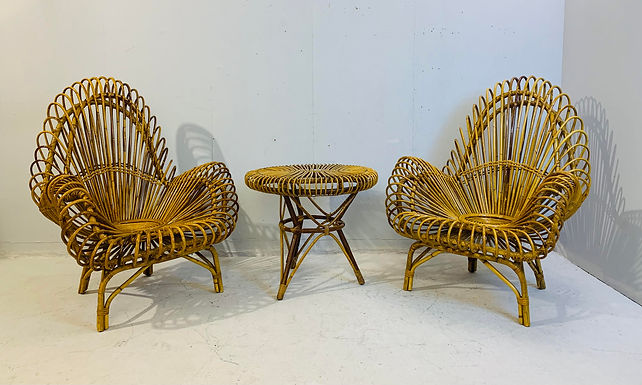 3 piece set of Rattan Furniture