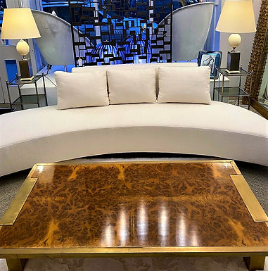 Curved Sofa in the Style of Vladimir Kagan