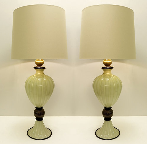 Pair of Contemporary Murano Lamps