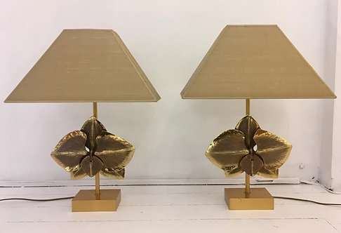 Maison Charles mid century modern table lamps