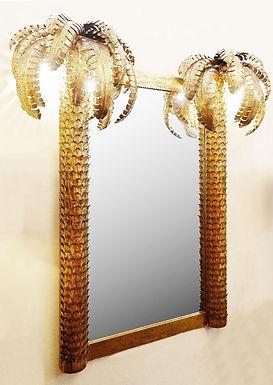 "Palm Mirror ""Maison Jansen"" Style"