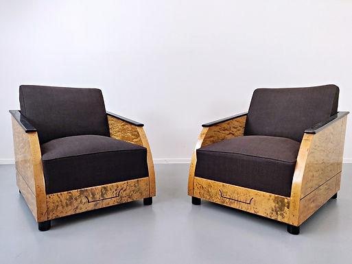 Pair of Art Deco Armchairs (Belgium)