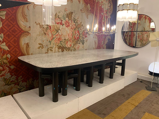 Large Dining Table by Ado Chale Signed by Artist (Belgium)