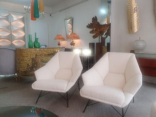Mid Century Style Geometric Armchairs