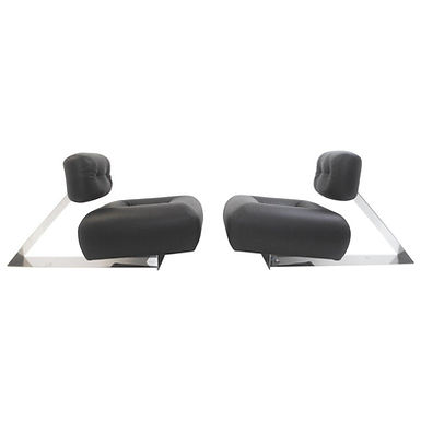 "Rare Pair of Mid Century  Lounge Chairs ""Aran"" Oscar Niemeyer"