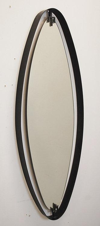 Mid Century Oval Iron Mirror