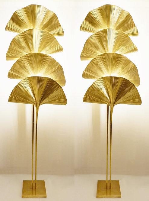 Tall pair of fan lights  pair
