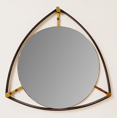 1960 Mid Century Triangle Mirror