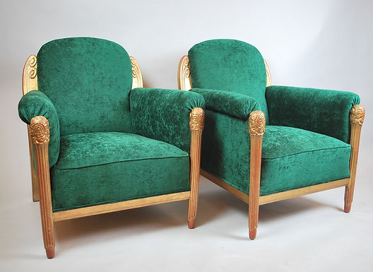 Pair Of Armchairs Attributed To Maurice Dufrêne, Circa 1920