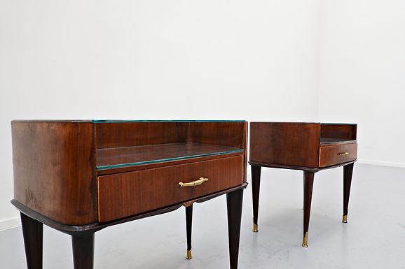 Mid Century bedside tables by Osvaldo Borsani (1950's)