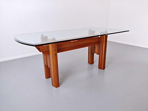 Italian Wooden Dining Table By Franco Poli For Bernini C.1979