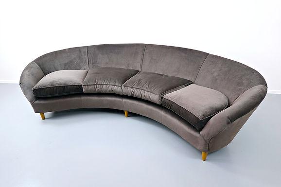 1950's large mid century italian sofa