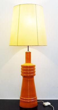 1950's Mid Century Ceramic Orange Lamp
