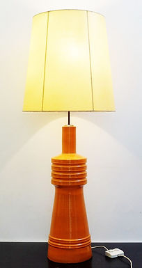 1950's Mid Century Ceramic Orange Lamp