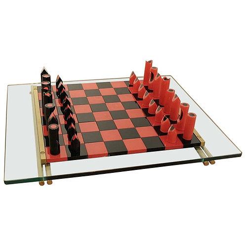 1980's Retro Chess Board Murano Glass