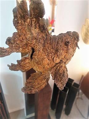 """Giant Cast Bronze Fish """"Arnold""""  Sculpture by Peter Van den Deiler"""