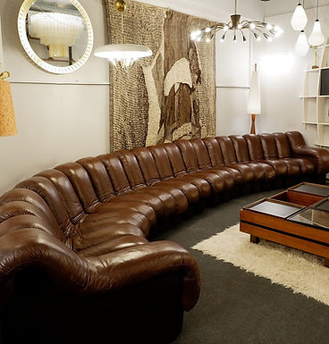 1970 modular sofa by De Sede in Brown Leather (Switzerland)