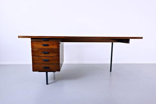 Asymmetric Desk in Teak - 1960s