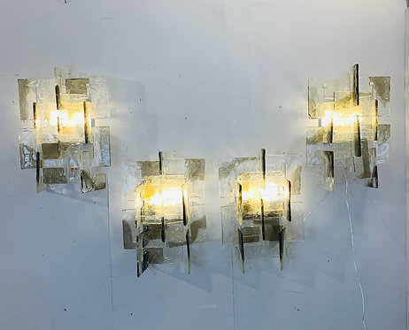 set of 8 Carlo Nason Sconces