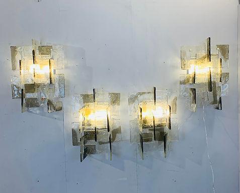 Carlo Nason Wall Sconces for Mazzega (8 Available)