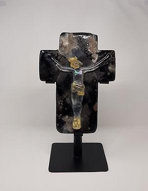 Murano Glass Crucifix c.1950's Italy