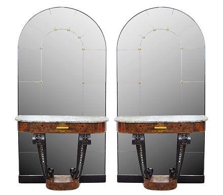 1930's Pair of Art Deco Consol Tables
