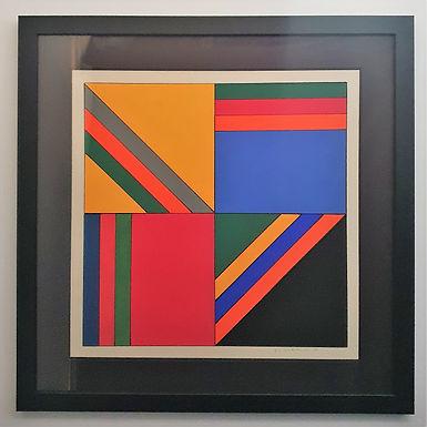 Abstract Painting by Guy Vandenbranden, Belgium