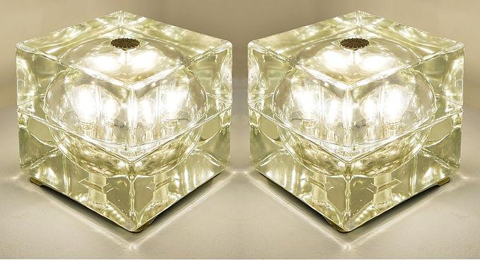 Pair of Cubosfera Lights by Mendini