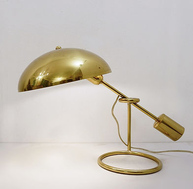 Angelo Lelli For Arredoluce Brass Table Lamp 1950s