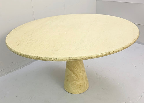 Round Dining Table in the Style of Angelo Mangiarotti