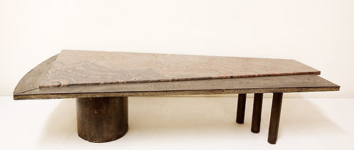 1970's Brutalist Coffee Table by Pia Manu