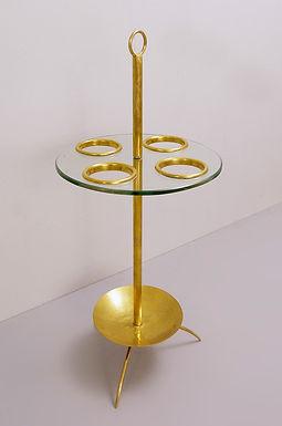 Italian Umbrella Stand in Glass and Brass. 1970's