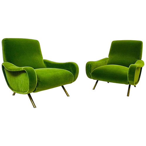 Pair Of Marco Zanuso Armchairs For Arflex, Model Lady, 1950s