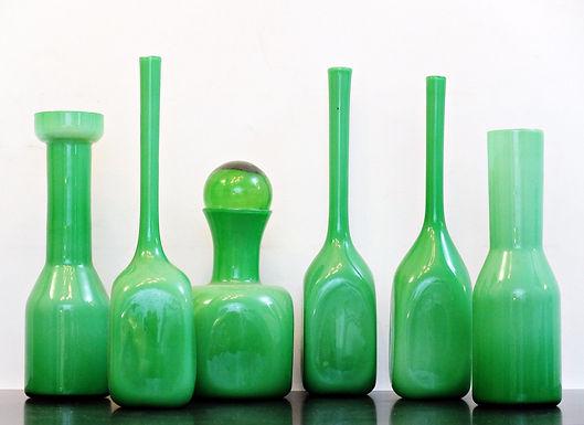 Green Murano Vases