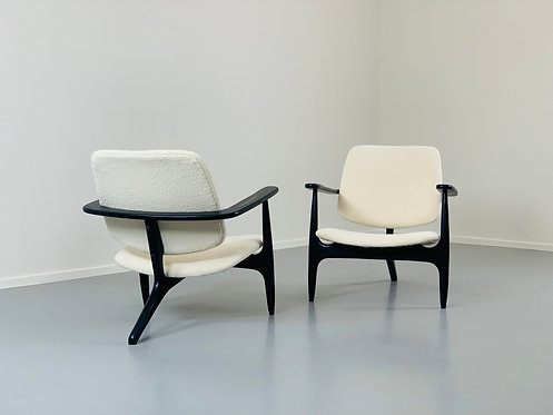 Pair of mid century chairs by Alfred Hendrickx Pair