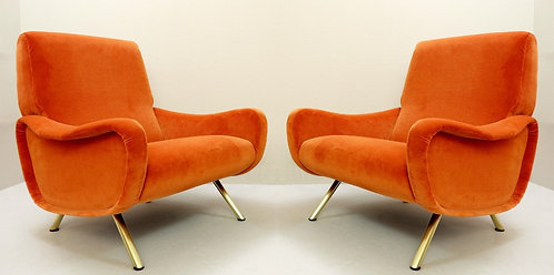 Mid Century Armchairs by Marco Zanuso Pair