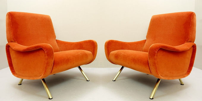 Mid Century Armchairs by Marco Zanuso