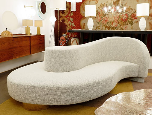 "Wave Curved ""Borne"" Sofa - Italy"