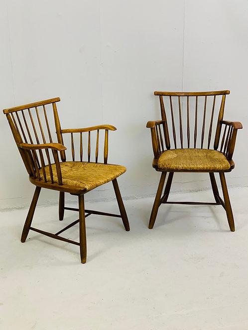 pair of mid century armchairs Arno Lambrecht