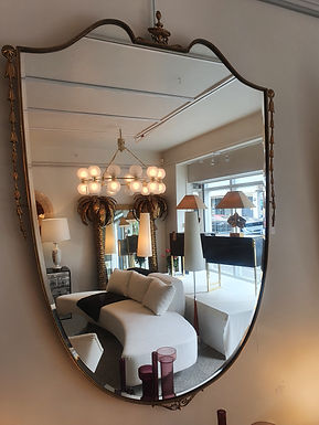 Large Shield Italian Mirror with Coronet Detail