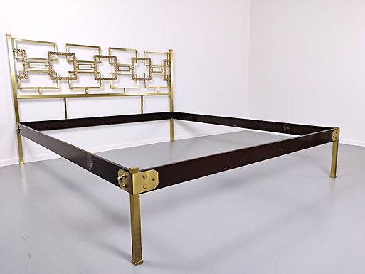 Brass Bed by Luciano Frigerio c. 1960