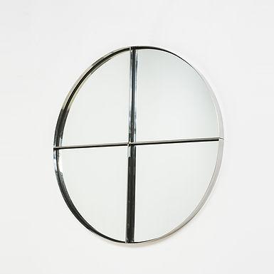 Circular Mid Century Mirror Italy by Vittorio Introini