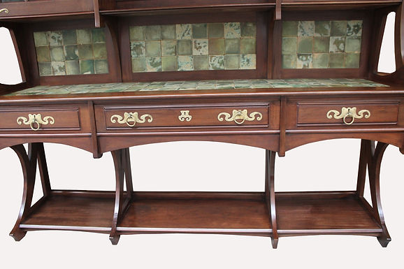 Large Art Nouveau Buffet, By Gustave Serrurier-Bovy