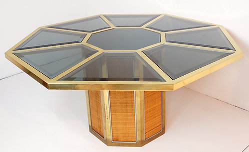 1970's Octagaonal Table by Paolo Buffa