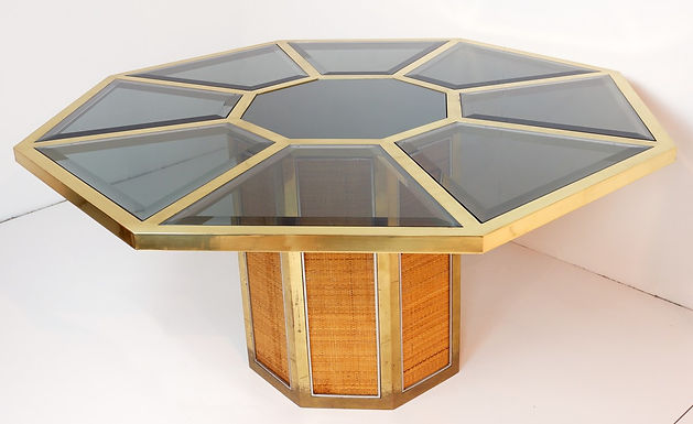 1970's Octagonal Dining Table by Romeo Rega