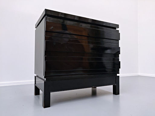 Lacquered Chest of Drawers by Emile Veranneman (Belgium)