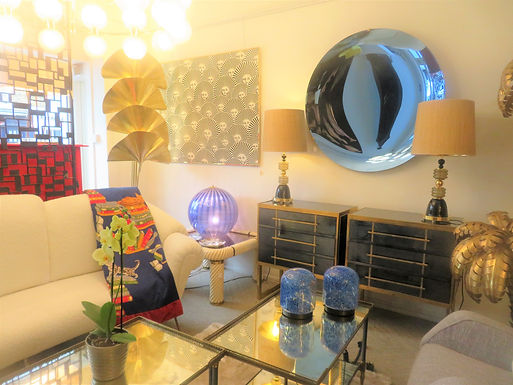 Pair of Glass Table Lamps by Gae Aulenti