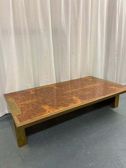 Brass and Maple Coffee Table