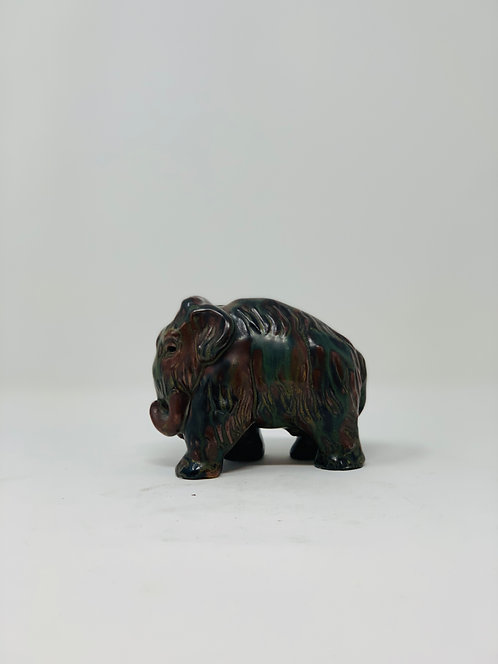 """Mid Century """"Woolly Mammouth"""" Ceramic Sculpture by Knud Kyhn, c1950"""